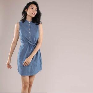 Grana Japanese Chambray sleeveless dress Small